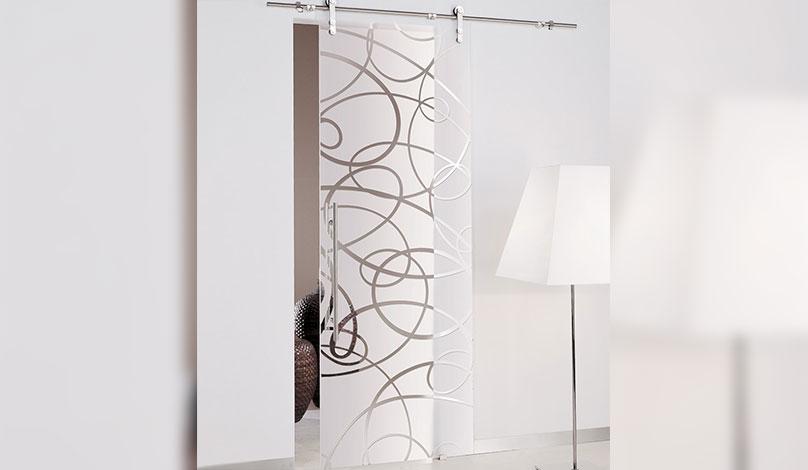 Плъзгащи стъклени интериорни врати
