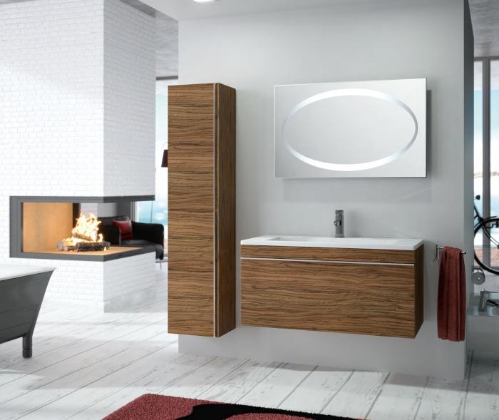 Шкафове за баня от фурнир